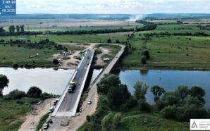 На Калущині влаштували асфальтобетон мостового переходу через Дністер. ФОТО