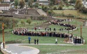 Історична мить: у селі Старуня вперше помолились на новозведенній Хресній…