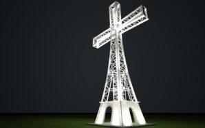 У Старуні вперше засвітили хрест на вершині Хресної Дороги. ФОТОРЕПОРТАЖ