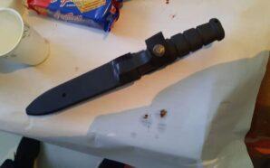 На Богородчанщині спостерігач прийшов на дільницю з ножем
