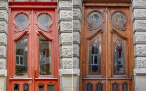 У Франківську відреставрували понад 10 дверей