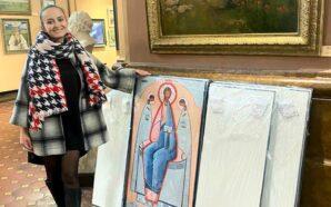 Калуська художниця презентує персональну виставку ікон в Музеї мистецтв Прикарпаття