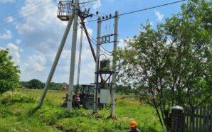 На Калущині замінюють 12 кілометрів ліній електропередачі. ФОТО